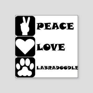 Peace Love Labradoodle Sticker