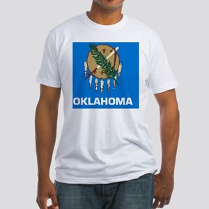 2000px-Flag_of_Oklahoma_svg Fitted T-Shirt
