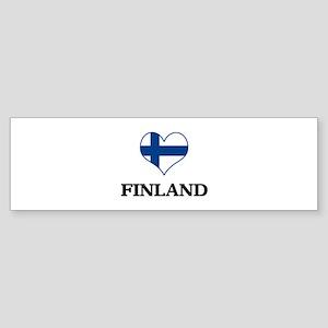 Finland heart Bumper Sticker