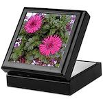 Pink Gerber Daisy Art Keepsake Box
