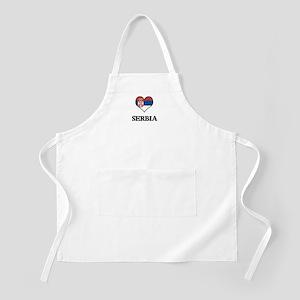 Serbia heart BBQ Apron