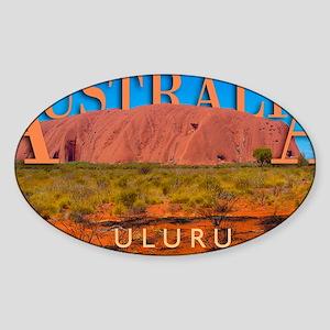 mouse pad_0051_australia uluru16060 Sticker (Oval)