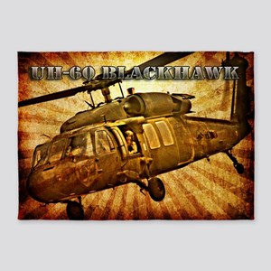 Army Grunge Blackhawk 5'x7'Area Rug