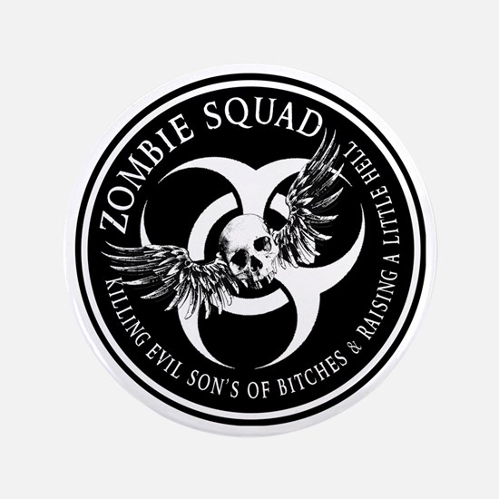 "Zombie Squad Ring Patch Revised 3.5"" Button"