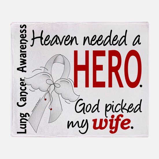 D Heaven Needed a Hero Wife Lung Can Throw Blanket