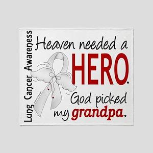 D Heaven Needed a Hero Grandpa Lung  Throw Blanket