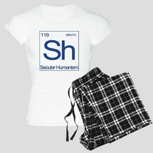 Sh Shirt-Blue-back-no godle Women's Light Pajamas