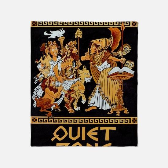 11x17_Quiet Zone print Throw Blanket