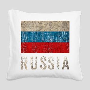 russia14Bk Square Canvas Pillow