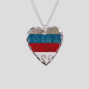 russia14Bk Necklace Heart Charm