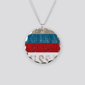russia14Bk Necklace Circle Charm