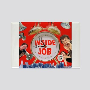 Wake UP! 9/11 inside job Rectangle Magnet