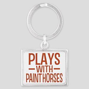 playsamericanpainthorses Landscape Keychain