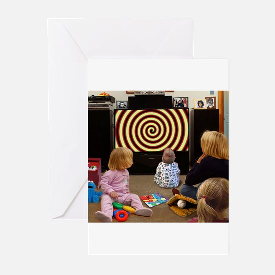 Hypnotic TV Greeting Cards (Pk of 10)