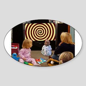 Hypnotic TV Oval Sticker