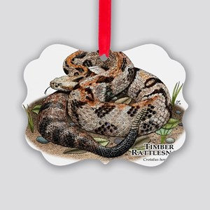 Timber Rattlesnake Picture Ornament