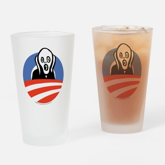 ObamaScream Drinking Glass