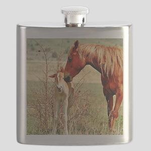 Mare  Foal 5x5 Flask