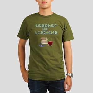 teacher-in-training2 Organic Men's T-Shirt (dark)
