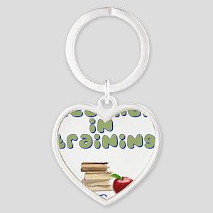 teacher-in-training2 Heart Keychain