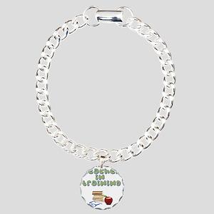 teacher-in-training2 Charm Bracelet, One Charm