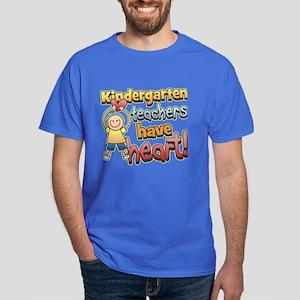 Kindergarten Teacher Heart Dark T-Shirt