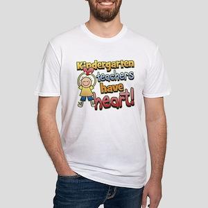 Kindergarten Teacher Heart Fitted T-Shirt