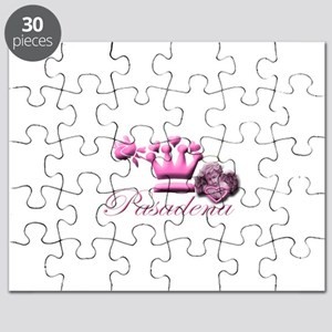 Pasadena Pink Angel with Pink Heart Puzzle