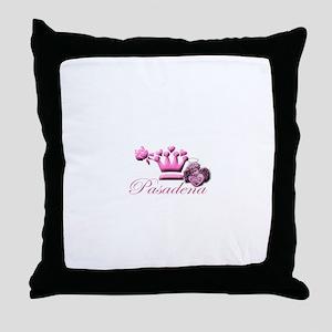 Pasadena Pink Angel with Pink Heart Throw Pillow