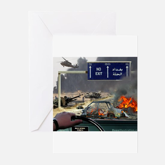 NO Exit from Iraq Greeting Cards (Pk of 10)