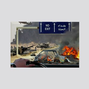 NO Exit from Iraq Rectangle Magnet