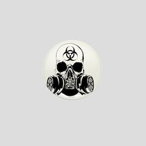 Biohazard Zombie Skull Mini Button