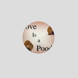 Love is Poodle Mini Button