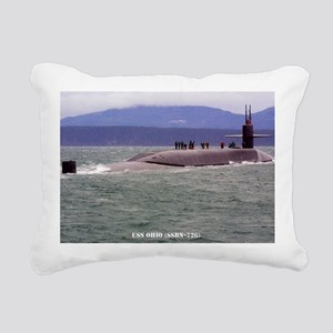ohio ssbn large framed p Rectangular Canvas Pillow