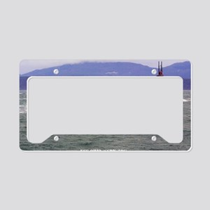 ohio ssbn large framed print License Plate Holder