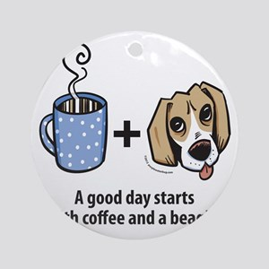 beagle_coffeeforlight Round Ornament