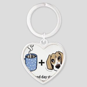 beagle_coffeeforlight Heart Keychain