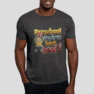 Preschool Teacher Heart Dark T-Shirt