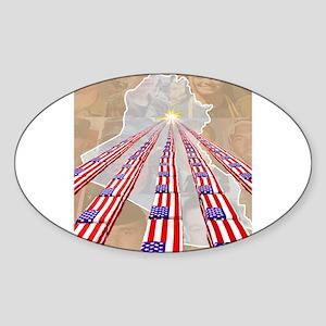 Iraq Oval Sticker