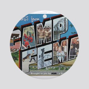 Camp FEMA Ornament (Round)