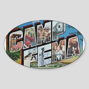 Camp FEMA Oval Sticker