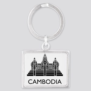 Cambodia4 Landscape Keychain