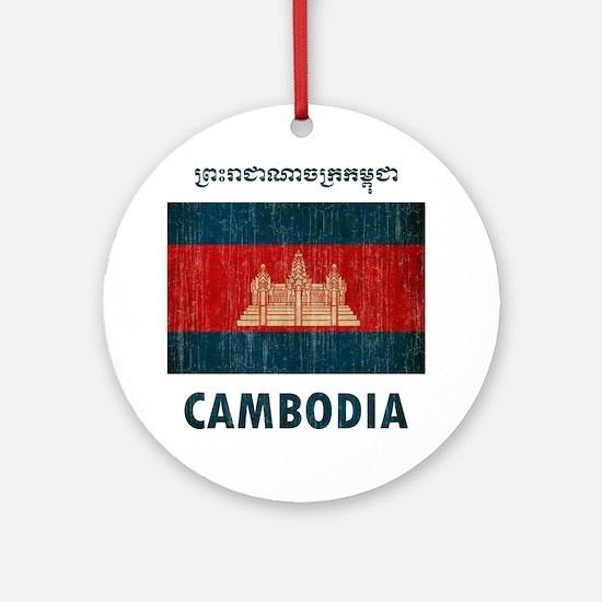 Cambodia6 Round Ornament