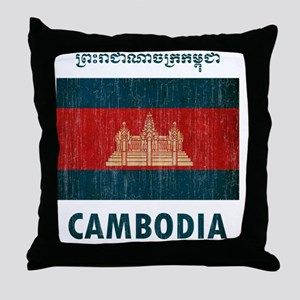 Cambodia6 Throw Pillow