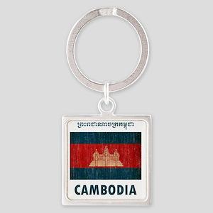 Cambodia6 Square Keychain