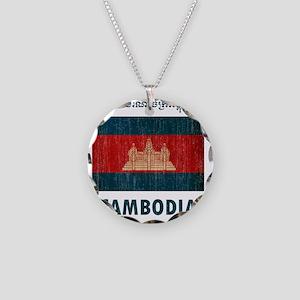 Cambodia6 Necklace Circle Charm