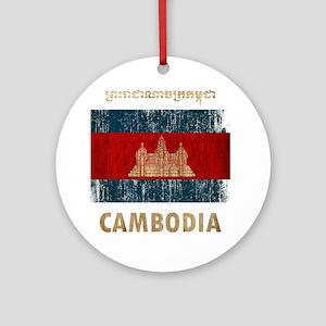 Cambodia6Bk Round Ornament