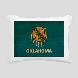 Oklahomatex3tex3-paint Rectangular Canvas Pillow