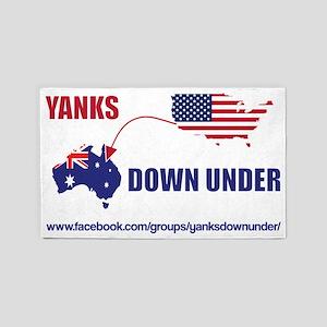 Yanks Down Under 3'x5' Area Rug