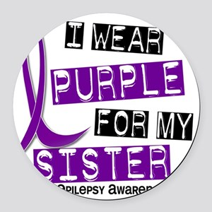 Sister Round Car Magnet